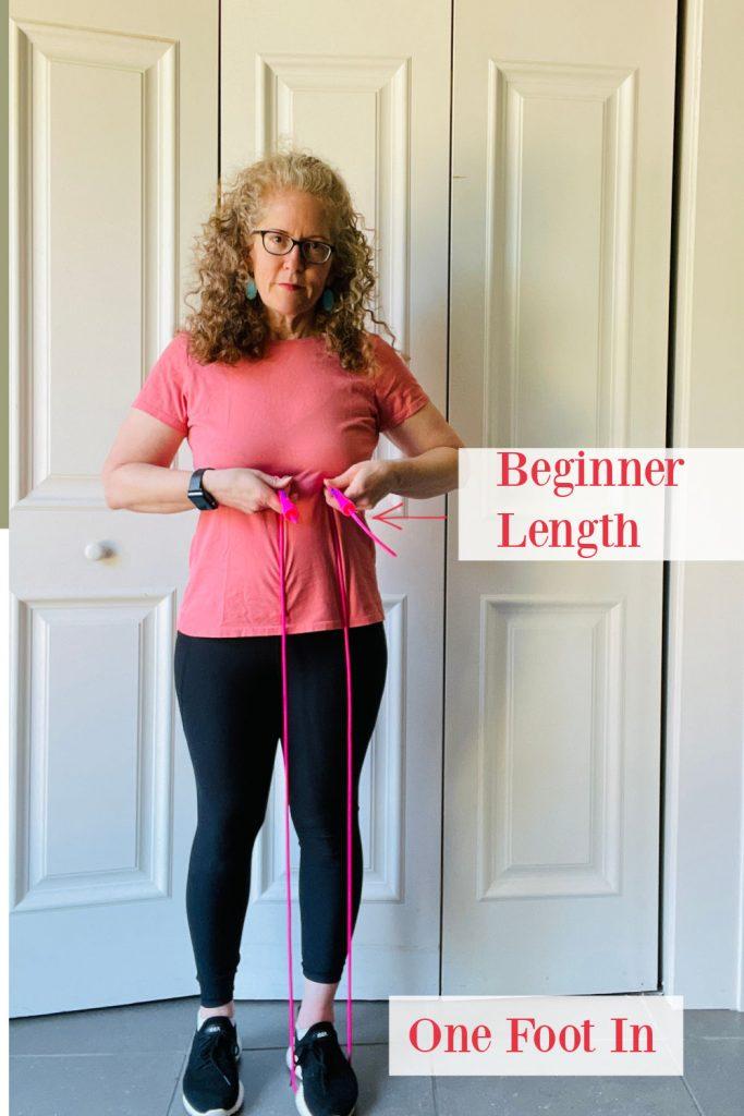 beginner  length for jump rope