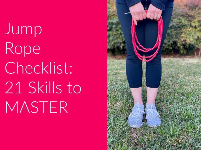 Jump Rope Skill Checklist – 21 Skills and Counting