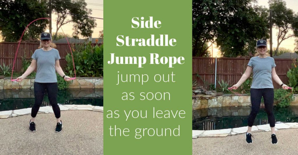 side straddle jump rope